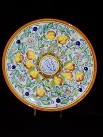 Hand Painted Italian Squirl Plates Jo 724 Old World
